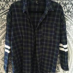 Forever 21 Oversized Flannel Shirt